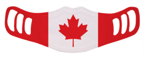 MF2 - Kids Polyester Face Mask - Canada Flag